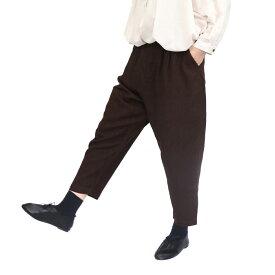 【SALE30%off】15 綿麻 × 14 リネン ヘリンボーン 起毛 テーパード パンツ 【TK631207】【tukuroi ツクロイ】