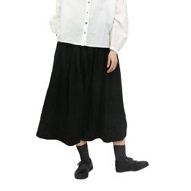 【SALE30%off】綿麻 × リネン タック プリーツ スカート 【TK204210】【tukuroi ツクロイ】