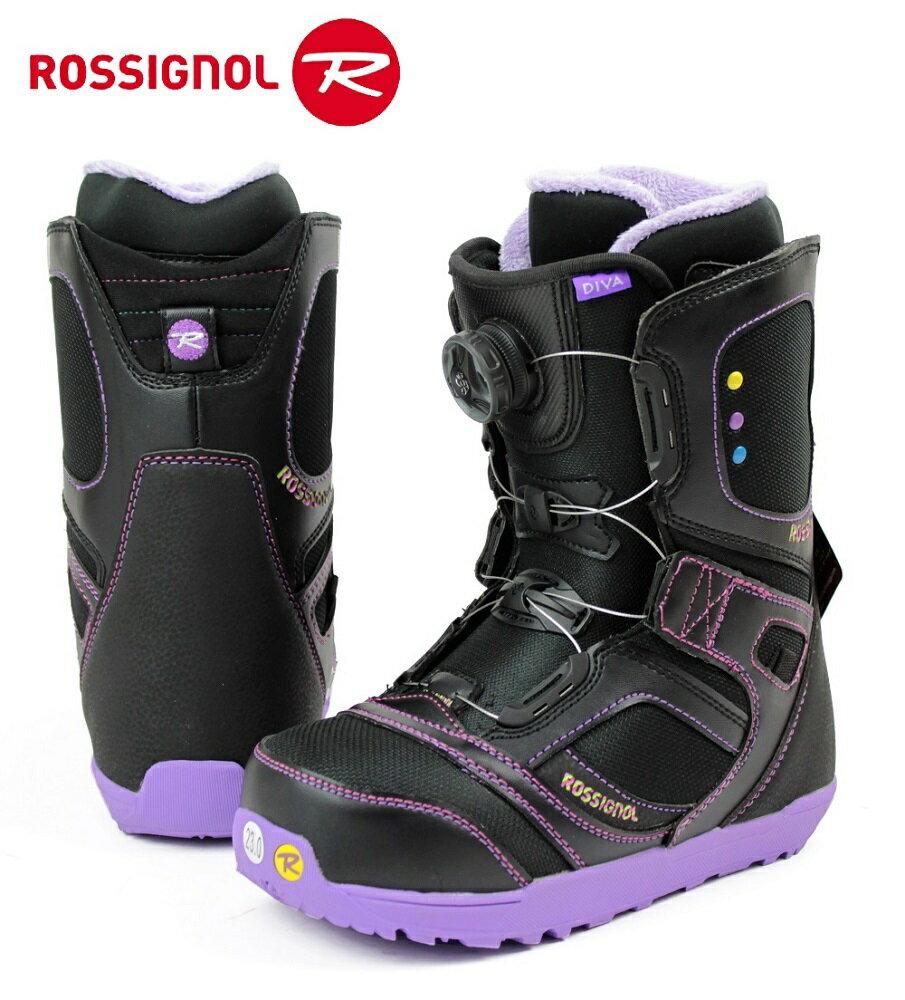 ROSSIGNOL(ロシニョール)初心者、初級者向け BOA搭載レディース女性用スノーボードブーツ「DIVA Boa」PURPLE RFD00J3