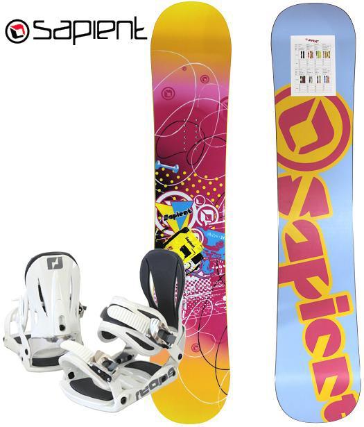 Sapient<サピエント>レディース女性向けスノーボード2点セット「Vixen(Descend)WMNS」フラット、ゼロキャンバー 144cm、147cm