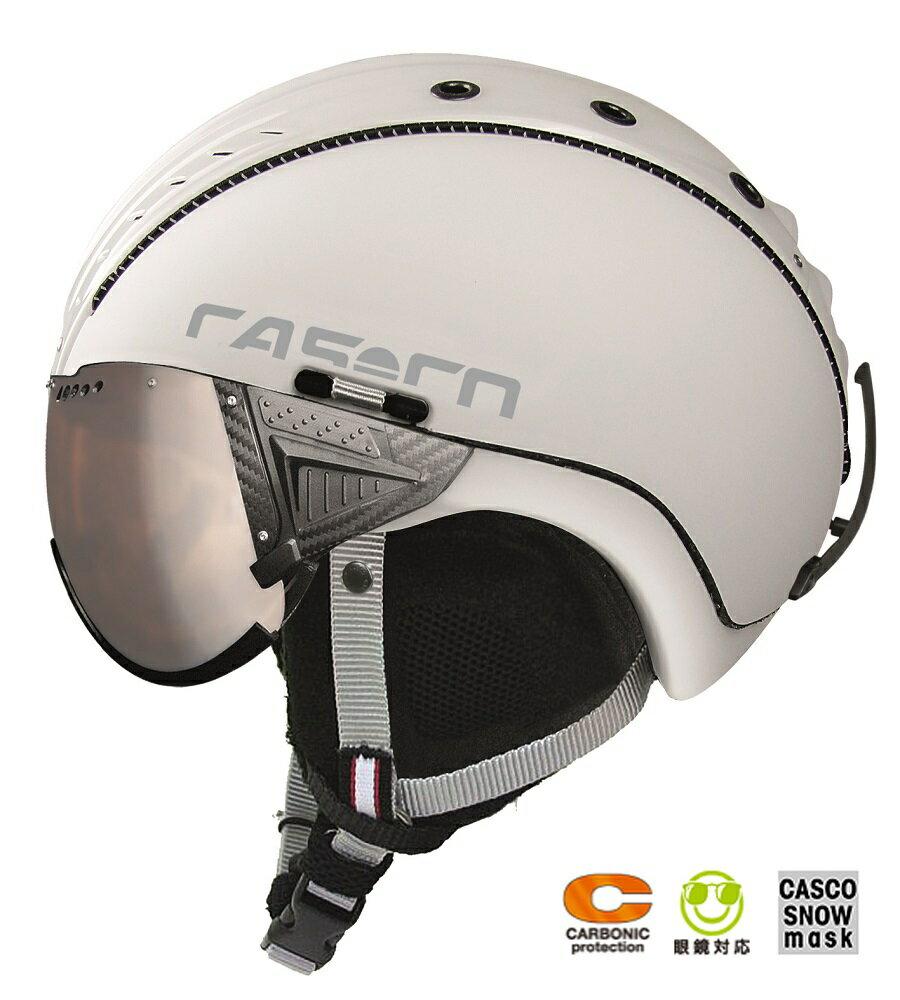2018-2019 CASCO(カスコ)バイザー付スキーヘルメット「SP2 SNOWBALL VISORスノーボールバイザー」3707ホワイト
