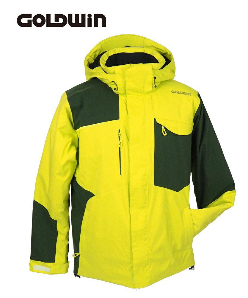 18GOLDWIN(ゴールドウィン スキージャケット)「Stream Jacket ストリーム ジャケット」G11710P(ライムグリーン×サイプレスグリーン)Lサイズ