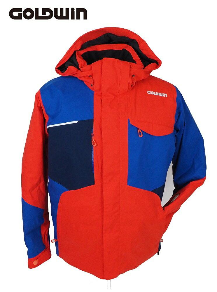 18GOLDWIN(ゴールドウィン) スキージャケット「Stream Jacket ストリーム ジャケット」G11710P(フレイムオレンジ×アドリアルブルー)Lサイズ