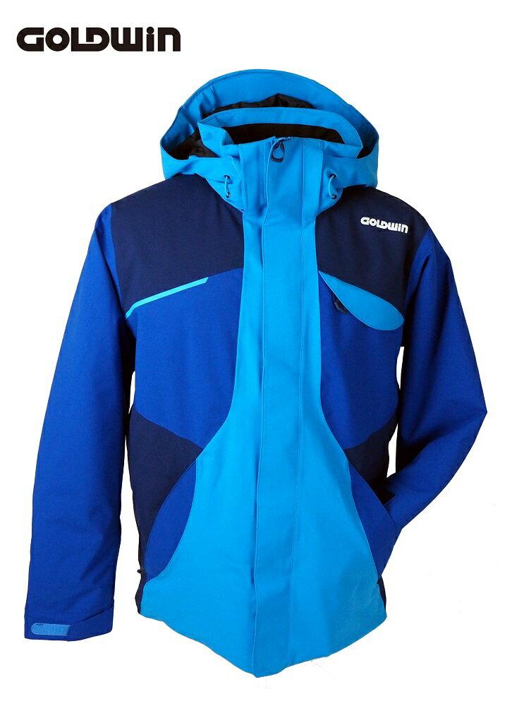18GOLDWIN(ゴールドウィン) メンズ スキーウェア ジャケット「BARO JACKET/クリアブルー×アドリアブルー Lサイズ」G11708P