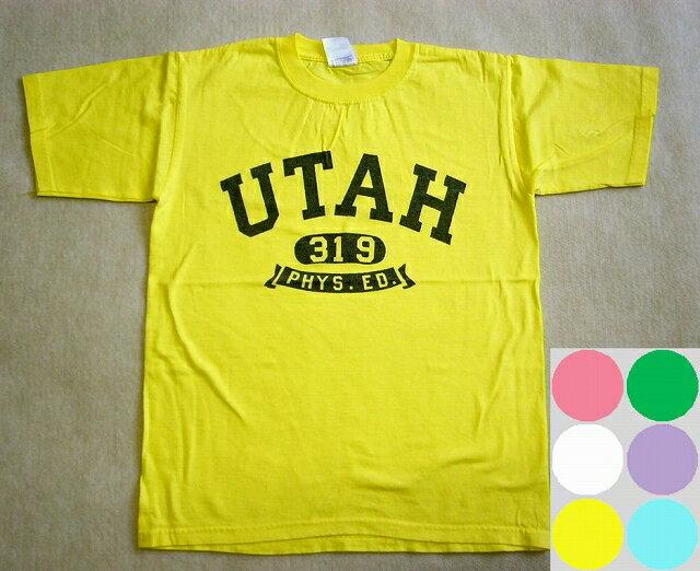 """【SALE】【anvil/アンビル】""""UTAH""""プリント半袖TEEシャツ -全6色- 【メール便対応】"""