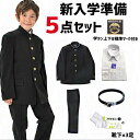 【新入学応援5点セット】学生服 上下セット 中学 男子 おススメ 日本製生地 安い 丸洗い 全国標準型 標準マーク 全身…