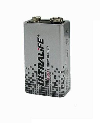 リチウム電池 U9VL 9V 1.2Ah 006P形 角型