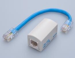 EMCノイズフィルタ内蔵中継コネクタ LANケーブル用 アース不要【DMJ100BT】HMJ/八光電機製作所