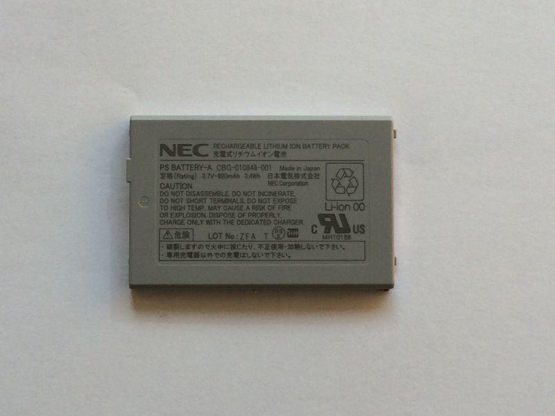 NEC コードレス電話機バッテリー 純正品【PS BATTERY-A】 【CBG-010848-001】NEC/日本電気