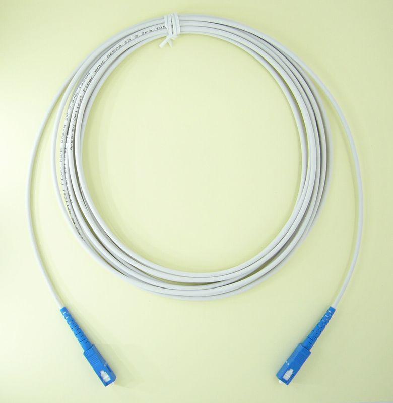 曲げに強い! 長尺 光ケーブル 耐圧 宅内配線 SCコネクタ 10m 【FSC-10M】 FTNET