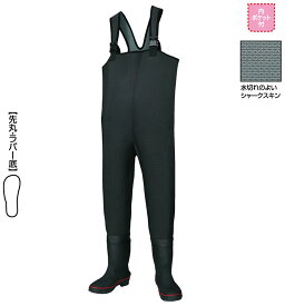 【釣具スーパーセール】 阪神素地 胴付長靴[先丸・ラバー底] ブラック 24? 【キャッシュレス5%還元対象】