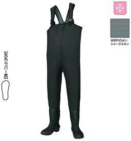 【釣具スーパーセール】 阪神素地 胴付長靴[先丸・ラバー底] ブラック 27? 【キャッシュレス5%還元対象】