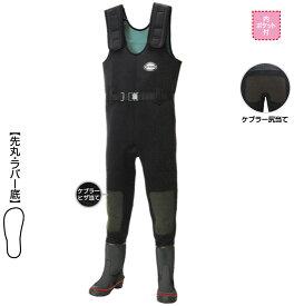 【釣具スーパーセール】 阪神素地 ワーキングウェーダー[先丸・ラバー底][尻、ひざ補強・ウエストベルト付] ブラック 24? 【キャッシュレス5%還元対象】