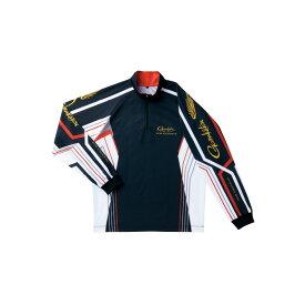 がまかつ 2WAYプリントジップシャツ ブラック L 【釣具 釣り具 お買い物マラソン】