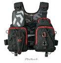 【お買い物マラソン】 ダイワ(Daiwa) DF-6206 フロートゲームベスト ブラックレッド フリー / ライフジャケット…