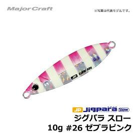 メジャークラフト ジグパラ・スローキャスティングモデル 10g ゼブラピンク