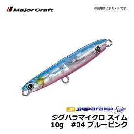 メジャークラフト ジグパラマイクロ スイム 10g #04 ブルーピンク / ライトショアジギング ジグ ジグパラ