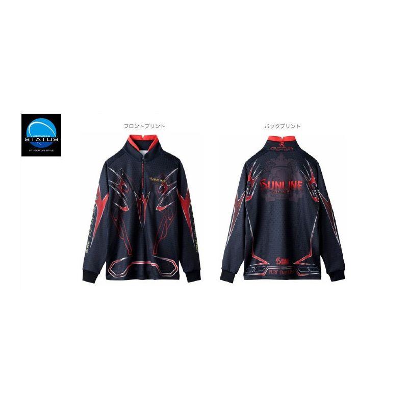 【お買い物マラソン】 サンライン STW-5558HT ステータス・PROジップアップシャツ 4L ブラック