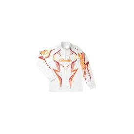 がまかつ GM-3540 2WAYプリントジップシャツ(長袖) ホワイト/ワインレッド L / がまかつ シャツ 長袖 【釣具 釣り具】