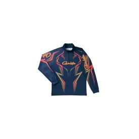 がまかつ GM-3540 2WAYプリントジップシャツ(長袖) ネイビー LL / がまかつ シャツ 長袖 【釣具 釣り具】