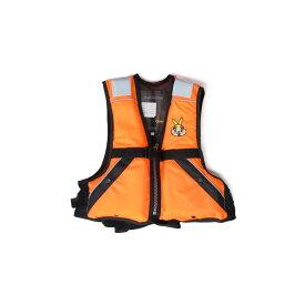 ジェネシス FV-1007 ジュニア用フローティングベスト L オレンジ / ライフベスト 子供用 【釣具 釣り具】