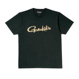 がまかつ GM-3576 Tシャツ(筆記体ロゴ) ブラック L / 釣り ウェア 半袖 Tシャツ