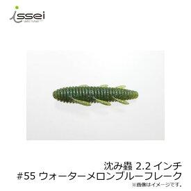 一誠(issei) 沈み蟲 2.2 #55 ウォーターメロンブルーフレーク /バスワーム 村上晴彦