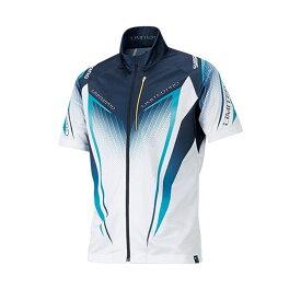 シマノ(Shimano) SH-012S フルジップシャツLIMITED PRO(半袖) ホワイト/ブルー M / 釣り 半袖シャツ 吸水速乾 UVカット リミテッドプロ