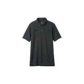 【お買い物マラソン】 ダイワ DE-6507 ボタンダウンポロシャツ ブラック M