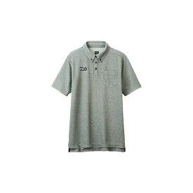【お買い物マラソン】 ダイワ DE-6507 ボタンダウンポロシャツ フェザーグレー XL