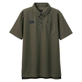 【お買い物マラソン】 ダイワ DE-6507 ボタンダウンポロシャツ カーキ M