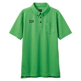 【お買い物マラソン】 ダイワ DE-6507 ボタンダウンポロシャツ グリーン L