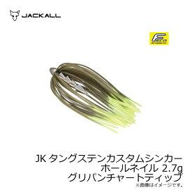 ジャッカル JKタングステンカスタムシンカー ホールネイル 2.7g グリパンチャートティップ