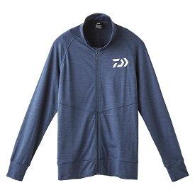 ダイワ(Daiwa) DE-92009 フルジップ ストレッチジャケット ネイビー M / 釣りウェア ジャケット 吸水速乾 UVカット 【釣具 釣り具】