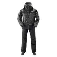 ダイワDW-35009レインマックスウィンタースーツブラックカモM/釣り防寒ウェア上下セット