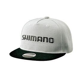 シマノ(Shimano) CA-091S フラットブリムキャップ ライトグレー F / 釣り 帽子 【キャッシュレス5%還元対象】