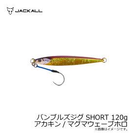 ジャッカル バンブルズジグ SHORT 120g アカキン/マグマウェーブホロ 【キャッシュレス5%還元対象】