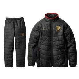 【お買い物マラソン】 サンライン(Sunline) SUW-3227 キルティングミドラースーツ ブラック S / 防寒ウェア 防寒インナー 防寒スーツ 【キャッシュレス5%還元対象】