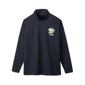 サンライン SUW-5576HT ボアストレッチハイネックシャツ ブラック L / 秋冬 ストレッチ 長袖シャツ