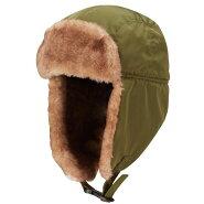 サンラインCP-6001パイロットキャップカーキフリー/防寒帽子冬用キャップ