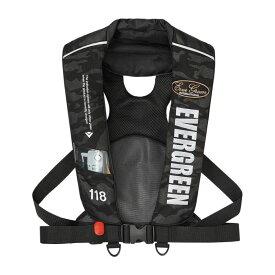 【お買い物マラソン】 エバーグリーン EGインフレータブルジャケット タイプ5 ブラックカモ(EG) / 自動膨張 国土交通省型式承認 桜マーク 【キャッシュレス5%還元対象】