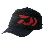 ダイワDC-63008Wマルチウォーマー付きコットンキャップブラックフリー/釣り防寒帽子キャップ