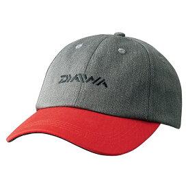 ダイワ(Daiwa) DC-92008W ツートーンキャップ チャコール×レッド フリー / 釣り 防寒 帽子 キャップ
