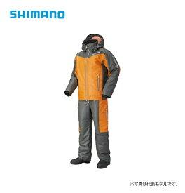 シマノ(Shimano) RB-035N マリンコールドウェザースーツ EX オレンジグレー L / 釣り 防寒着 上下セット 船釣り 【キャッシュレス5%還元対象】