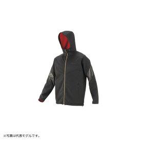 がまかつ GM-3609 ソフトシェルジャケット LL ブラックxレッド / 防寒ウェア 上着 上のみ 【キャッシュレス5%還元対象】