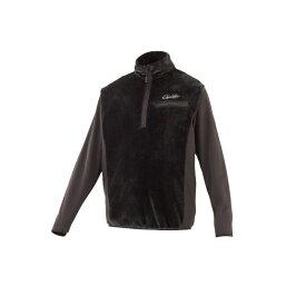 がまかつ GM-3614 ボアフリース ハーフジップシャツ S ブラック 【キャッシュレス5%還元対象】