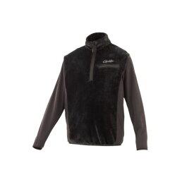 がまかつ GM-3614 ボアフリース ハーフジップシャツ L ブラック 【キャッシュレス5%還元対象】