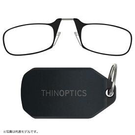 シンオプティクス ThinOptics キーチェーン 1.4倍 ブラック / 老眼鏡 拡大鏡 ルーペ 携帯型
