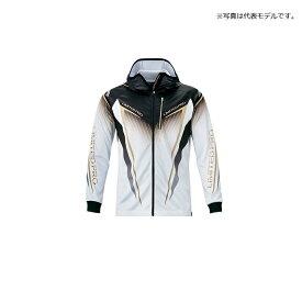シマノ(Shimano) SH-013T フルジッププリントフーディシャツ LIMITED PRO(長袖) XL ホワイト / ウェア 上着 長袖 吸水速乾 UVカット ジップシャツ 【釣具 釣り具】