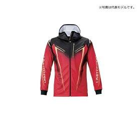 シマノ(Shimano) SH-013T フルジッププリントフーディシャツ LIMITED PRO(長袖) M レッド / ウェア 上着 長袖 吸水速乾 UVカット ジップシャツ 【釣具 釣り具】